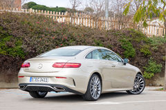 Mercedes-Benz E-Class Coupe 2017 Test Drive Day Royalty Free Stock Image