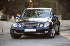 Mercedes benz e class model 2004. Front view of brand new 2004 mercedes benz e class model Stock Image