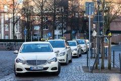 Mercedes Benz E-Class Taxi Cabs Royalty Free Stock Photo