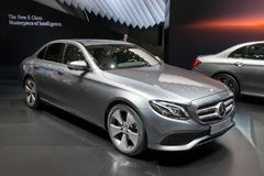 2016 Mercedes-Benz E220d samochód Zdjęcia Stock