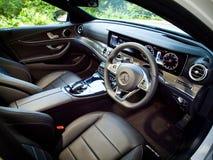 Mercedes-Benz E 200 drevdag för 2016 prov Arkivfoto