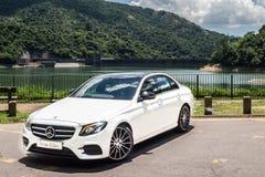 Mercedes-Benz E 200 drevdag för 2016 prov Arkivfoton
