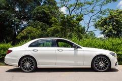 Mercedes-Benz E 200 drevdag för 2016 prov Royaltyfria Bilder