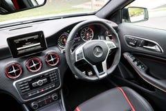 Mercedes-Benz een 45 AMG Binnenland Royalty-vrije Stock Foto
