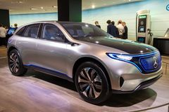 Mercedes Benz Eq Concept electric SUV car Royalty Free Stock Images
