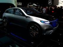 Mercedes Benz EQ in Genève 2017 stock foto's