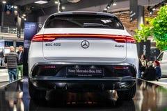 Mercedes-Benz EQC 400 4Matic 300kW SUV, het modeljaar van 2019, EQ-merk royalty-vrije stock afbeelding