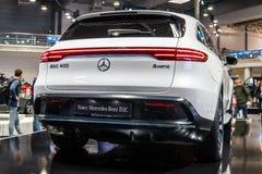 Mercedes-Benz EQC 400 4Matic 300kW SUV, het modeljaar van 2019, EQ-merk royalty-vrije stock fotografie