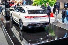Mercedes-Benz EQC 400 4Matic 300kW SUV, 2019 a?os modelo, marca de EQ fotos de archivo