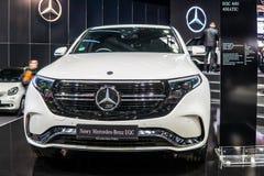 Mercedes-Benz EQC 400 4Matic 300kW SUV, 2019 a?os modelo, marca de EQ foto de archivo libre de regalías
