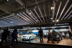 Mercedes-Benz exhibit at 2010 Autoshow Stock Photography
