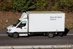 Mercedes-Benz Express Sprinter. On motorway stock photography