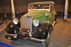 Mercedes Benz 1958 för grön färg modell 170 Arkivbild
