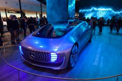 Mercedes Benz F 015 Luxury Electric Car. Frankfurt, Germany - Sep 20, 2017: Mercedes Benz F 015 Luxury Electric Car at the Frankfurt International Motorshow 2017 Stock Photo