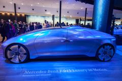 Mercedes Benz F 015 Luxury Electric Car. Frankfurt, Germany - Sep 20, 2017: Mercedes Benz F 015 Luxury Electric Car at the Frankfurt International Motorshow 2017 Royalty Free Stock Image