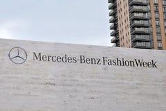 Mercedes Benz Fashion Week en Lincoln Center Imagen de archivo libre de regalías