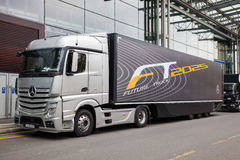 Mercedes Benz Future Truck FT 2025 trailer Stock Image