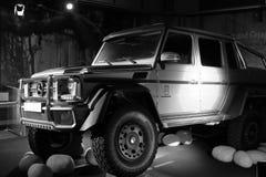 Mercedes-Benz protagonist of Jurassic World movie Stock Photos