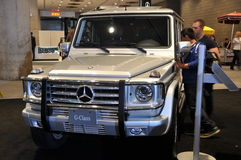 Mercedes Benz G-Class. NEW YORK - APRIL 11: Mercedes Benz G-Class at the 2012 New York International Auto Show running from April 6-15, 2012 in New York, NY Stock Photography