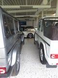 Mercedes benz g class. Garage of dream, rich man toys stock photography