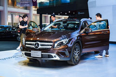 Mercedes-Benz GLA-Class car on display Royalty Free Stock Images