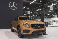 Mercedes-Benz GLA-Class GLA 250 on display. Anaheim - USA - September 28, 2017: Mercedes-Benz GLA-Class GLA 250 on display at the Orange County International Stock Image