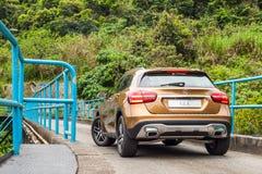 Mercedes-Benz GLA 200 drevdag för 2017 prov Arkivbild