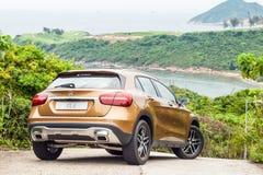 Mercedes-Benz GLA 200 drevdag för 2017 prov Fotografering för Bildbyråer