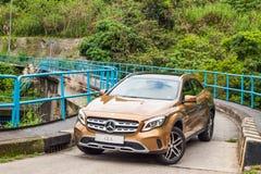 Mercedes-Benz GLA 200 drevdag för 2017 prov Arkivfoton