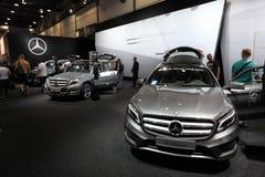 Mercedes Benz GLA-grupp på AMIEN Leipzig Tyskland Arkivbild