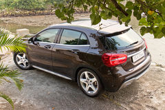 Mercedes-Benz GLA 4MATIC 2014 test drive Royalty Free Stock Images