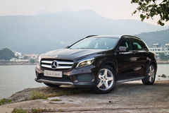 Mercedes-Benz GLA 4MATIC 2014 test drive Stock Images