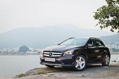 Mercedes-Benz GLA 4MATIC 2014 test drive Royalty Free Stock Photography
