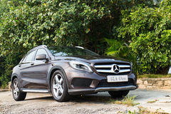 Mercedes-Benz GLA 4MATIC 2014 test drive Royalty Free Stock Photos