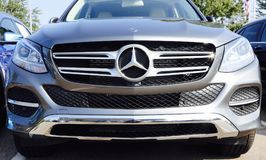 Mercedes GLA 250 Front End. The 2018 Mercedes-Benz GLA 250 is the smallest and most affordable SUV in the German automaker`s lineup, slotting below the GLC Stock Photo