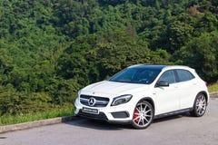 Mercedes-Benz GLA 45 2014 test drive Stock Photos
