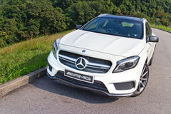 Mercedes-Benz GLA 45 2014 test drive Stock Image