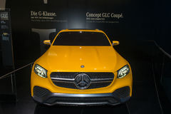 Mercedes-Benz GLC Coupe Concept - world premiere. Stock Photo
