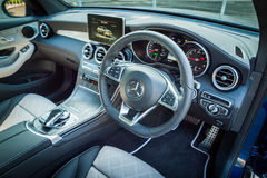 Mercedes-Benz GLC 250 Coupe Interior Stock Images