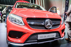 Mercedes-Benz GLE 450 AMG Coupe , Motor Show Geneve 2015. Stock Image
