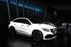 Mercedes-Benz GLE 63 AMG SUV displayed at the auto show Royalty Free Stock Photo