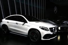 Mercedes-Benz GLE 63 AMG SUV displayed at the auto show Stock Image