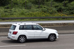 Mercedes Benz GLK on the road Stock Photography