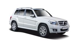 Mercedes Benz GLS SUV. Mercedes SUV car isolated on white royalty free stock photography