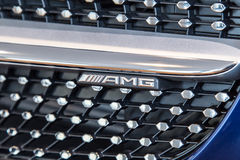 Mercedes Benz GT AMG at Marcedes store Stock Image