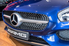 Mercedes Benz GT AMG at Marcedes store Stock Photos