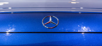 Mercedes Benz GT AMG at Marcedes store Stock Images