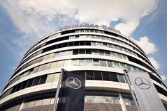 Mercedes-Benz is a high-end office building Stock Photography