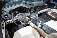 Mercedes Benz interior Royalty Free Stock Photo
