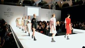 Mercedes Benz Kiev Fashion Days, Kiew, Ukraine, stock video footage